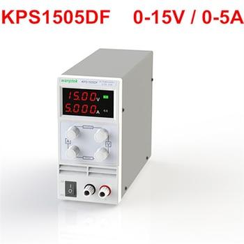 цена на wanptek High quality KPS1505DF 15V5A 110V-230V 0.1V/0.001A EU LED Digital Adjustable Switch DC Power Supply display 4 digits