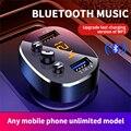 Автомобильный Bluetooth 5,0 mp3-плеер, беспроводной автомобильный комплект громкой связи Bluetooth, быстрое зарядное устройство с двумя USB-портами а дл...