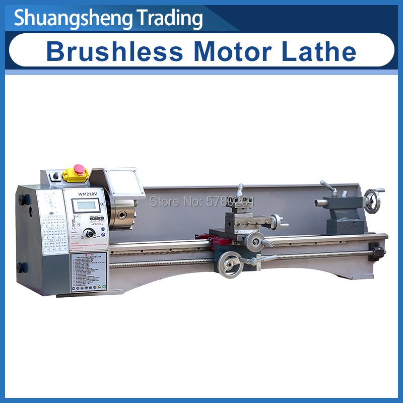WM210L (Extended WM210V) Metal Lathe 850W Brushless Motor All Steel Gear Lathe 800mm Working Length +125mm Chuck Lathe Machine