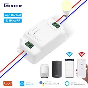 Image 1 - Interrupteur intelligent Wifi RF, minuteur vocal, télécommande, Module domotique, avec Alexa, application Tuya Smart Life