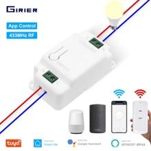 Módulo de automatización de domótica con Control remoto para el hogar controlador de luz inteligente para el hogar, con temporizador de voz, compatible con Smart Life, Tuya, Alexa y Wifi RF