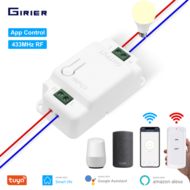 Wifi RF Smart DIY Light Switch Tuya Smart Life App Voice Timing Remote Control Smart Home Automation Module Wokrs With Alexa