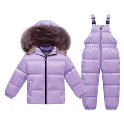 Russia winter jacket for girls coat 2-8 years Children's clothing for boys outerwear cute red snowsuit kids winter clothes sets
