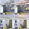 Modern Metal LED Chandelier Lighting Lustre Living Room Villa Interior Decor Pendant Lamp Lighting Glass Ball Kitchen Fixtures discount