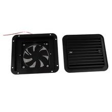 RV боковой вентиляционный вентилятор 12V DC, легко крепится к RV с включенным оборудованием-черный