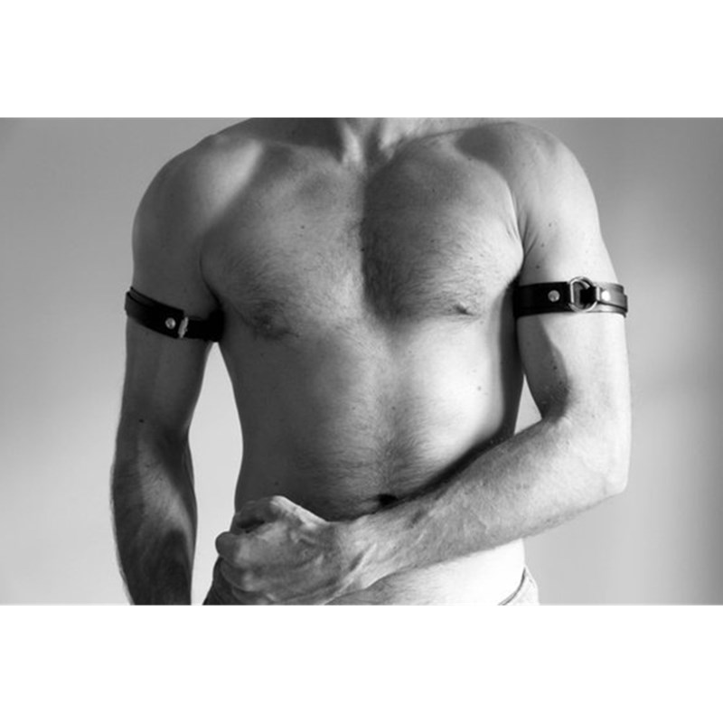 Leather Fetish Men Gay Arm Harness BDSM Bondage Gay Body Harness Belts Strap Punk Rave Accessories For Adults Sex Games