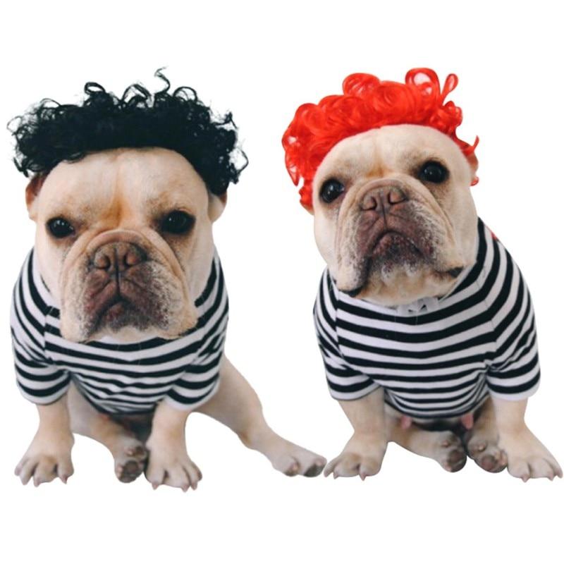 Шляпа для собак и кошек, кепки, костюм клоуна на Хэллоуин, черный, красный парик для собак, африканский парик, косы для домашних животных, соб...