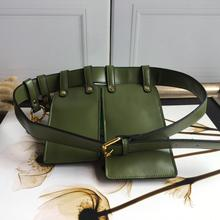 Street Fashion Genuine Cow Leather Waist Packs Chest Bag Famous Brand Top Designer Free Drop Shipping Ins Hot Sale Unique Orange