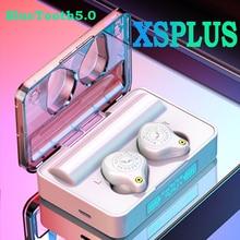 XSPLUS auriculares inalámbricos con Bluetooth 5,0, dispositivo deportivo resistente al agua, con reducción de ruido, para todos los teléfonos inteligentes