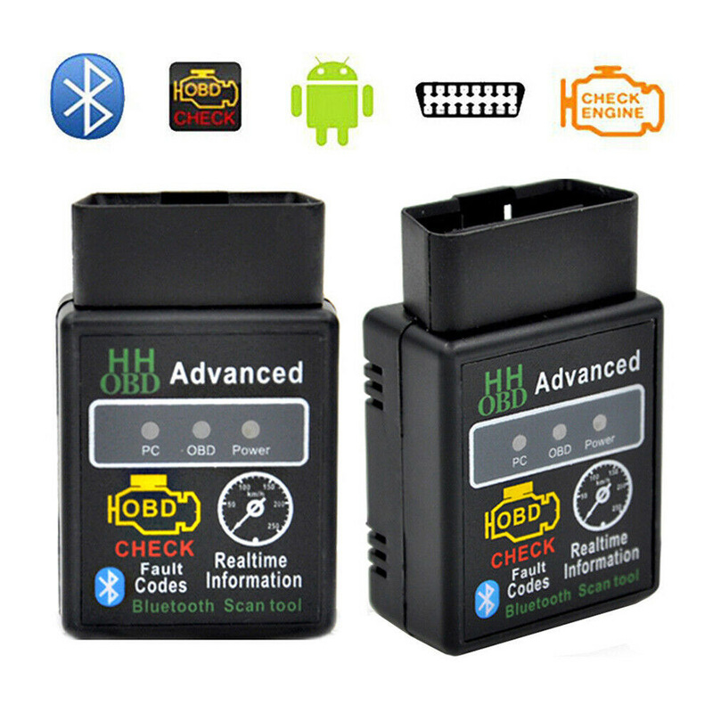 OBD2 ELM327 Bluetooth V2.1V1.5 Car Diagnostic Tool HHOBD Auto Interface Scanner Code Reader For Torque Scan Tool Car Accessories