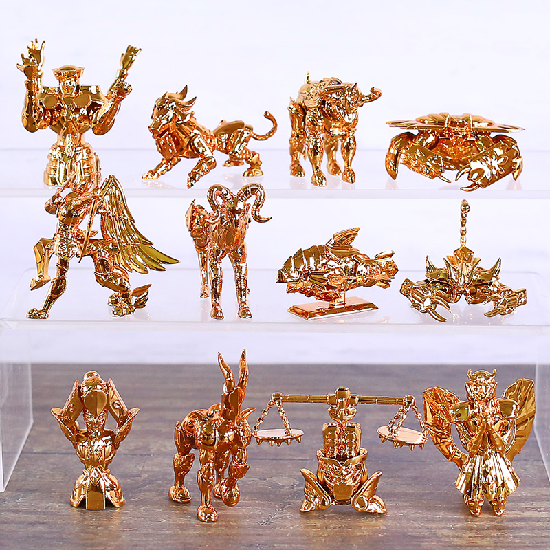 Saint Seiya The Gold Zodiac Series Collectible Figures PVC Figureines Toys Brinquedo 12pcs/set