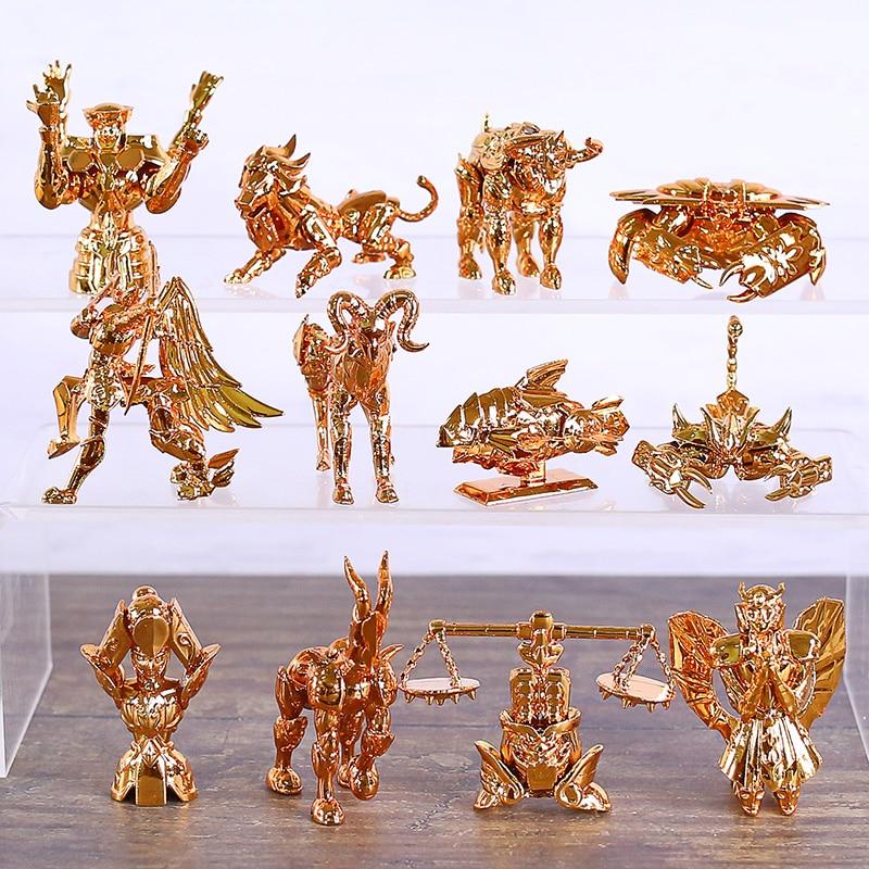 saint seiya o ouro zodiaco serie collectible figuras pvc figureines brinquedos brinquedo 12 pcs set
