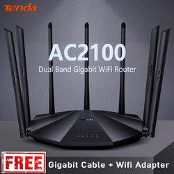 Tenda AC23 AC2100M WiFi inalámbrico compatibilidad de enrutador IPV6 cobertura del hogar Router inalámbrico de doble banda, Control de la aplicación VPN envío gratis
