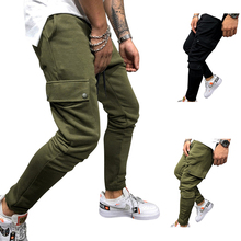 Jogging pants men 2021 Solid Color Overalls Casual Pocket Sport Work Casual gyms Trouser bodybuilding Pants Men's Clothing 2021