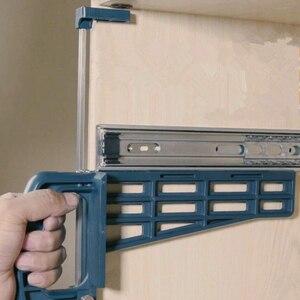 Image 1 - ใหม่ล่าสุด Universal Magnetic ลิ้นชักสไลด์ JIG ชุดเครื่องมือติดตั้งสำหรับตู้เฟอร์นิเจอร์ EXTENSION ตู้ฮาร์ดแวร์ติดตั้งท่องเที่ยว