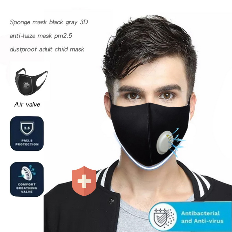 PM2.5 Mask Anti Pollution Dust Respirator Washable Reusable Mouth Mask Cotton Unisex Mouth Muffle Allergy/Asthma/Travel/ Cycling