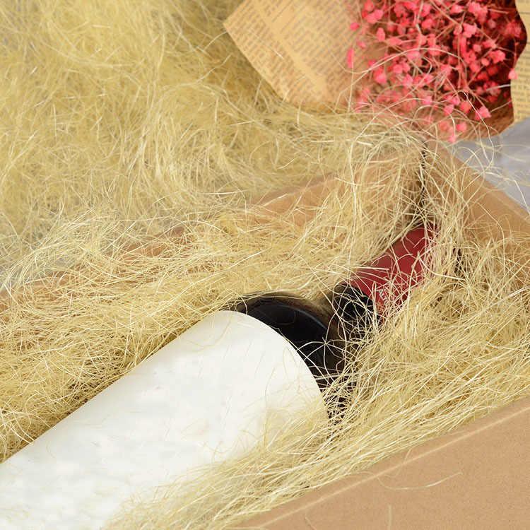 10g ต่อกระเป๋า DIY ผ้าลินินธรรมชาติ Raffia Shredded Confetti ของขวัญ/กล่องบรรจุวัสดุแต่งงานตกแต่งบ้านตกแต่ง 62457