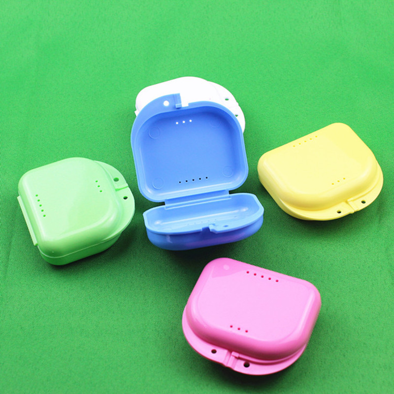 New 2020 False Dental Bath Box Equipment Tools Denture Bath Case Dental False Teeth Appliance Container Storage Boxes Denture
