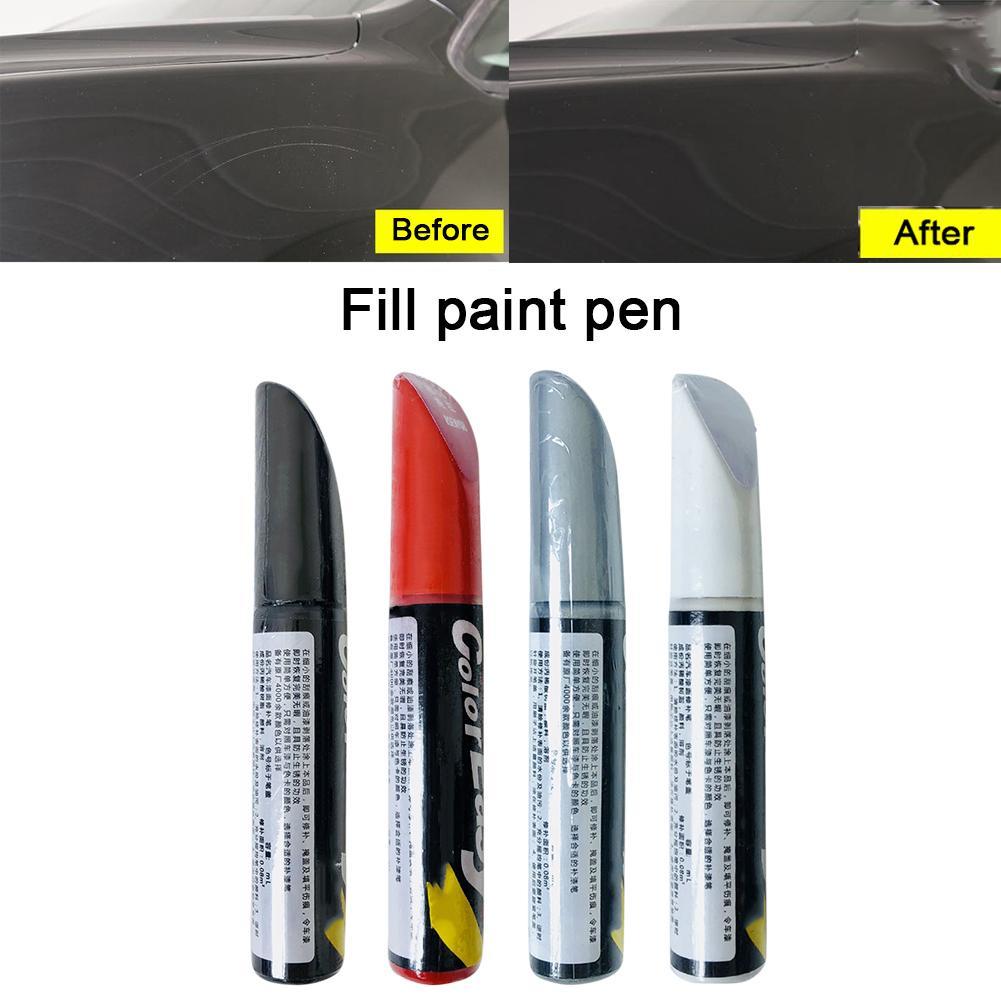 Car Paint Repair Pen Scratch Repair Pen Professional Matt Red White Silver Black Paint Touch Paint Pen