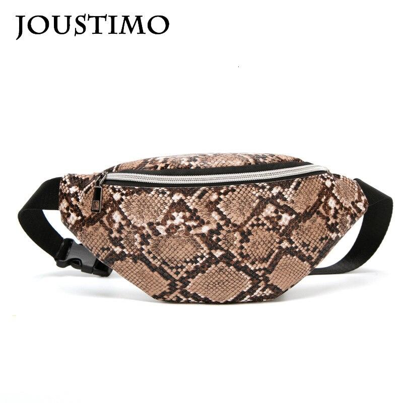 Travel Belt Bags For Women 2020 New Luxury Light Serpentine Chest Purses Women Shoulder Waist Bags Outdoor Casual Fanny Packs
