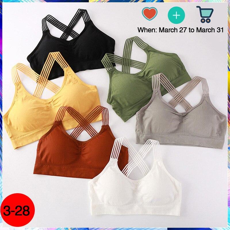 Women Yoga Sport Bra Women Shockproof Sexy Back Sports Bras Breathable Athletic Fitness Running Gym Vest Tops Sportswear Bras