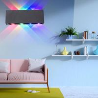 8W AC 85 265V LED Wall Lamp Red Green Blue Purple Colorful Light for Outdoor Garden Indoor Bedroom Corridor