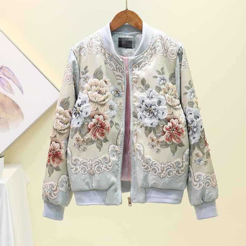 2019 nowy projektant wykonane na zamówienie jesień zima znosić kurtki kobiet w stylu Vintage linia złota żakardowe linkę luksusowe topy płaszcz kurtki
