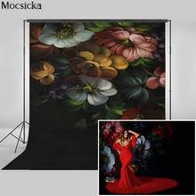 Винтажный цветочный фон mocsick для портретной фотобудки беременных