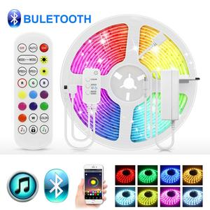 5/10/15 M Bluetooth LED Strip Lights 12V RGB LED Light 5050 Flexible Backlight lamp tape with 24 key IR remote control Lighting
