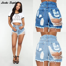 High waist Sexy Women's jeans denim shorts 2019 Su