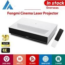 Yeni Xiaomi Fengmi Lazer TV Projektör 4 K 3D Sinema 2000 ANSI 150 inç ALPD Bluetooth 4.0 MIUI TV Kablosuz Projektör HDMI Tiyatrosu 3840 * 2160 3000: 1 0.23: 1 150 inç DTS Sekiz noktalı düzeltme