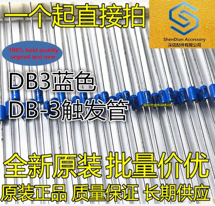 100pcs 100% Orginal New Trigger Diode DB3 Blue DB-3 Trigger Tube Package DO-35 Real Photo