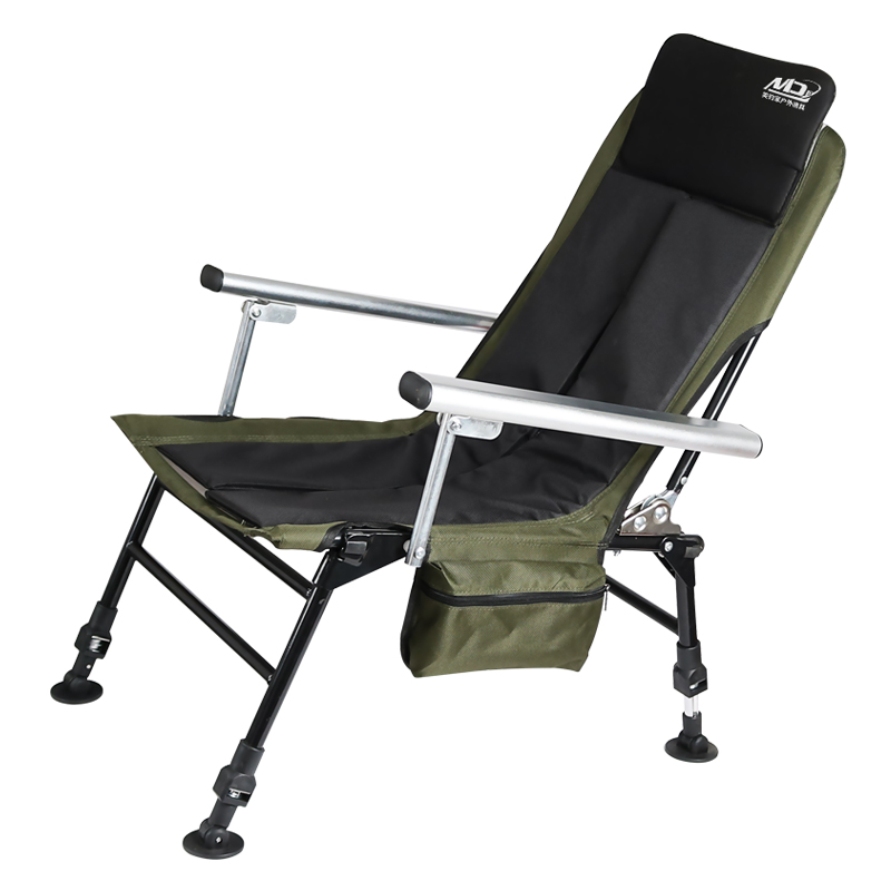 2019 Beach Chai New European Fishing Chair Folding Multifunctional Portable Reclining Seat  Outdoor Furniture