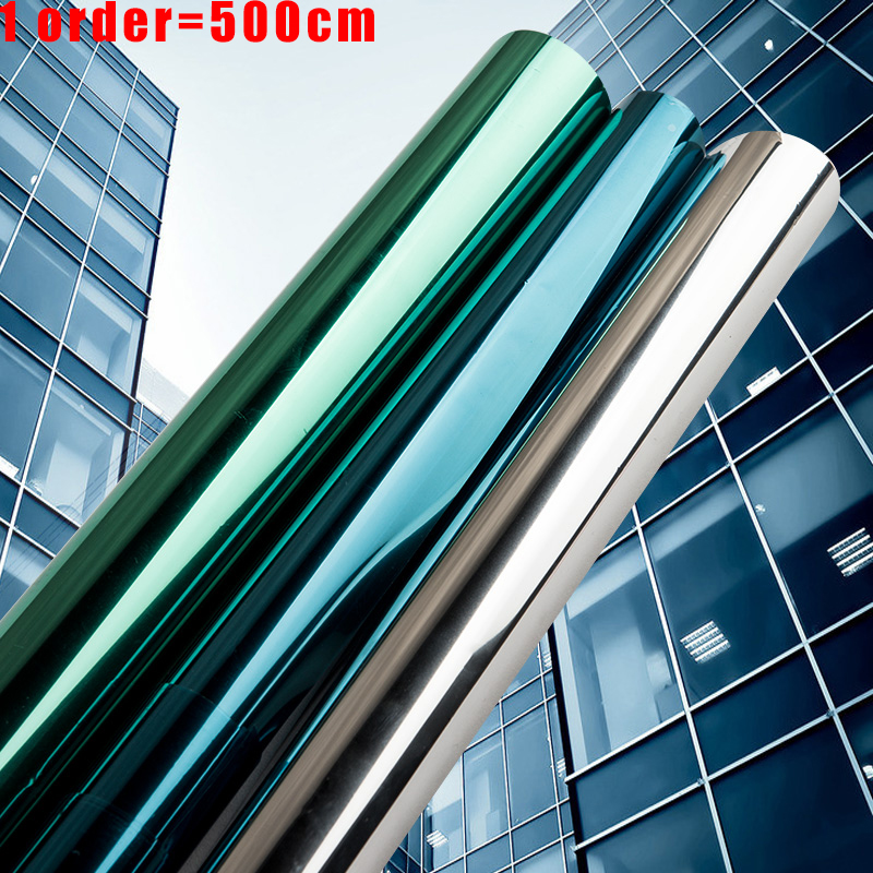 Multi-largeur 2/3/5M miroir isolation solaire teinte fenêtre Film autocollants UV réfléchissant à sens unique décoration de la vie privée pour le verre