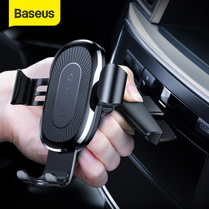 Image 1 - Baseus Wireless Car Phone Holder 10W Fast Charging Stand For Iphone 11 Pro 4.0 6.5 Inch Gravity Auto CD Slot Support Car Mount