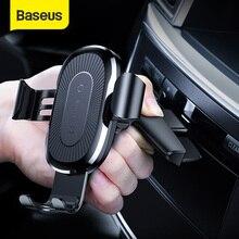 Baseus suporte 10w para celular, suporte de carregamento rápido para iphone 11 pro 4.0 a 6.5 polegadas gravidade automotivo suporte do carro do cd slot
