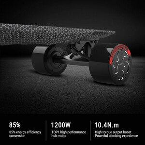 "Image 5 - Maxfind max 2 pro edição limitada skate elétrico longboard escuro 31 ""23 mph velocidade superior 16 milhas max faixa do motor duplo"