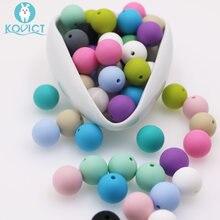 Kovict – Perle de Dentition en Silicone pour bébé, 100/200/500 pièces, Perle ronde de 15mm, pour la fabrication de bijoux, produits pour bébés
