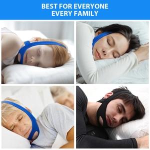 Image 4 - 新ネオプレンアンチいびきストップいびきチンストラップベルト抗無呼吸顎ソリューション睡眠サポート時無呼吸ベルト睡眠ケアツール