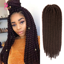 Crochet Hair Braiding-Hair Senegalese 22inch Braids-Extension Synthetic for Black Woman