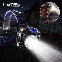 Светодиодный налобный фонарь супер яркий головной светильник