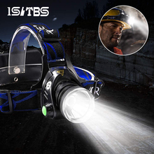 LED Headlamp Flashlights Usb Rechargeable Waterproof Outdoors Super-Bright 18650 Battery