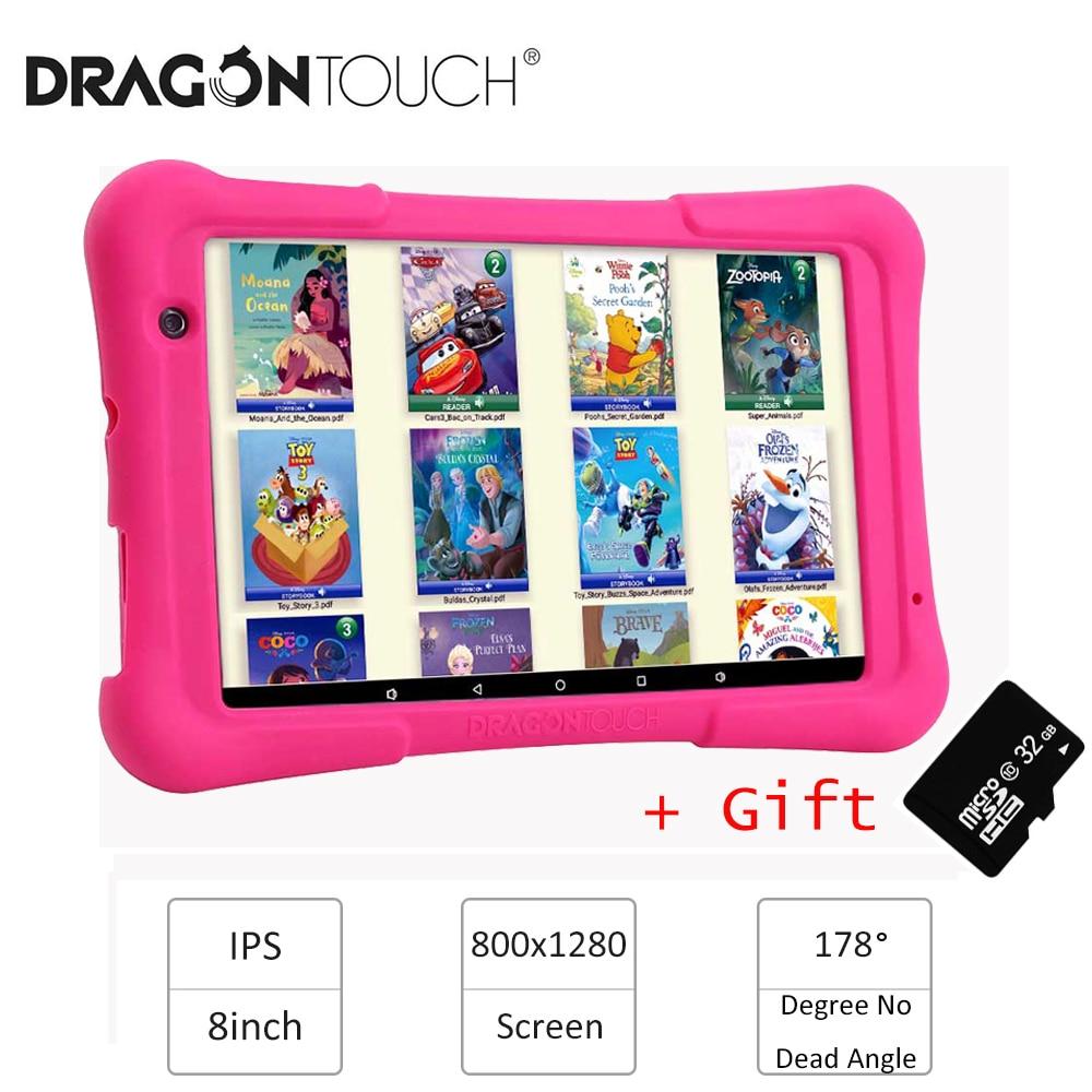 2019 dragão toque y80 crianças tablet 8 polegada hd display android tablet para crianças 16 gb quad core 1.5 ghz usb android 8.1 tablet pc