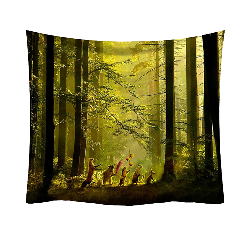 Tapestry Trees and Forest Style Feelings of Nature Beautiful Home Decoration Cool Polyester Thin Wall Hanging