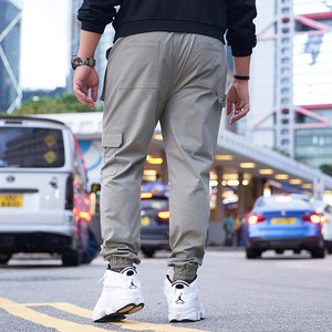 Image 3 - GXXH męskie szare spodnie joggery Streetwear ponadgabarytowe spodnie Cargo 2019 jesienne męskie duże kieszenie Ankel kombinezony luźne spodnie XXL 6XL