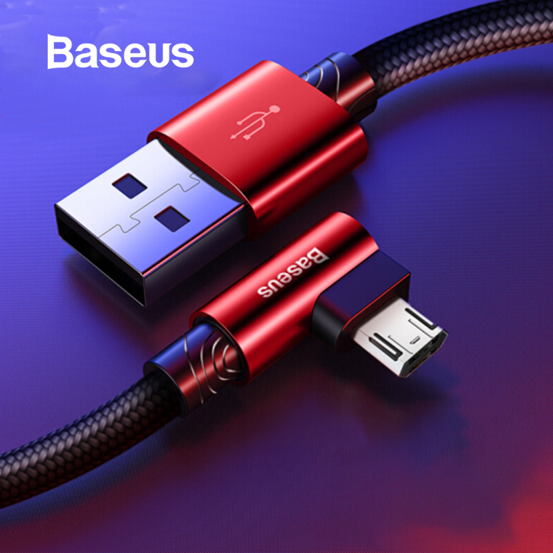 Baseus Reversible Micro USB Cable for Xiaomi Redmi 4X Note 4 5 Plus Mobile Game USB Data Cable Charger Wire USB Charging Cord image