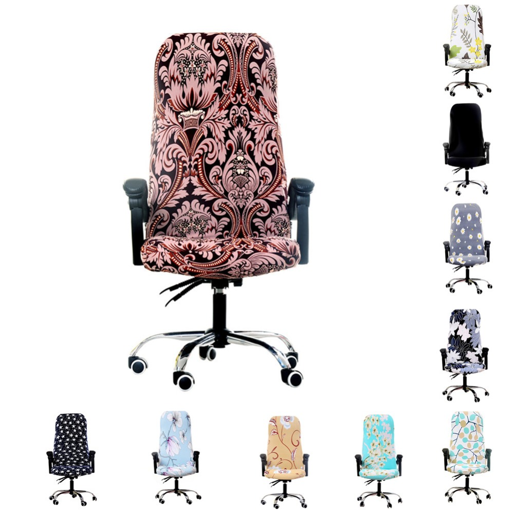 New 3 Sizes Modern Office Computer Chair Cover Printed Spandex Seat Covers for Computer Game Chair