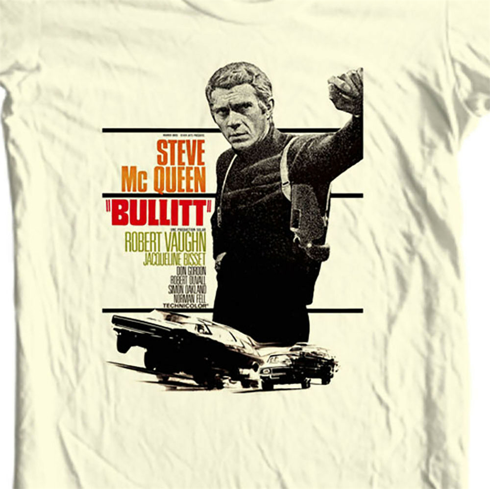 "/""Bullitt/"" Steve McQueen movie poster metal tin sign decor shop"