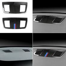 עבור BMW 3 סדרת E90 2005   2009 2010 2011 2012 סיבי פחמן רכב פנים לוח מחוונים מזגן Outlet Vent כיסוי Trim
