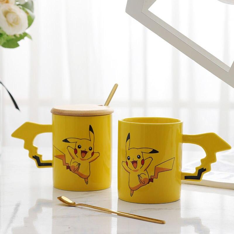 330ml Pikachu Keramik Kaffee mup Hause Frühstück Milch Tee Tasse Niedlichen Cartoon Kinder Wasser Tasse Kreative Geschenk